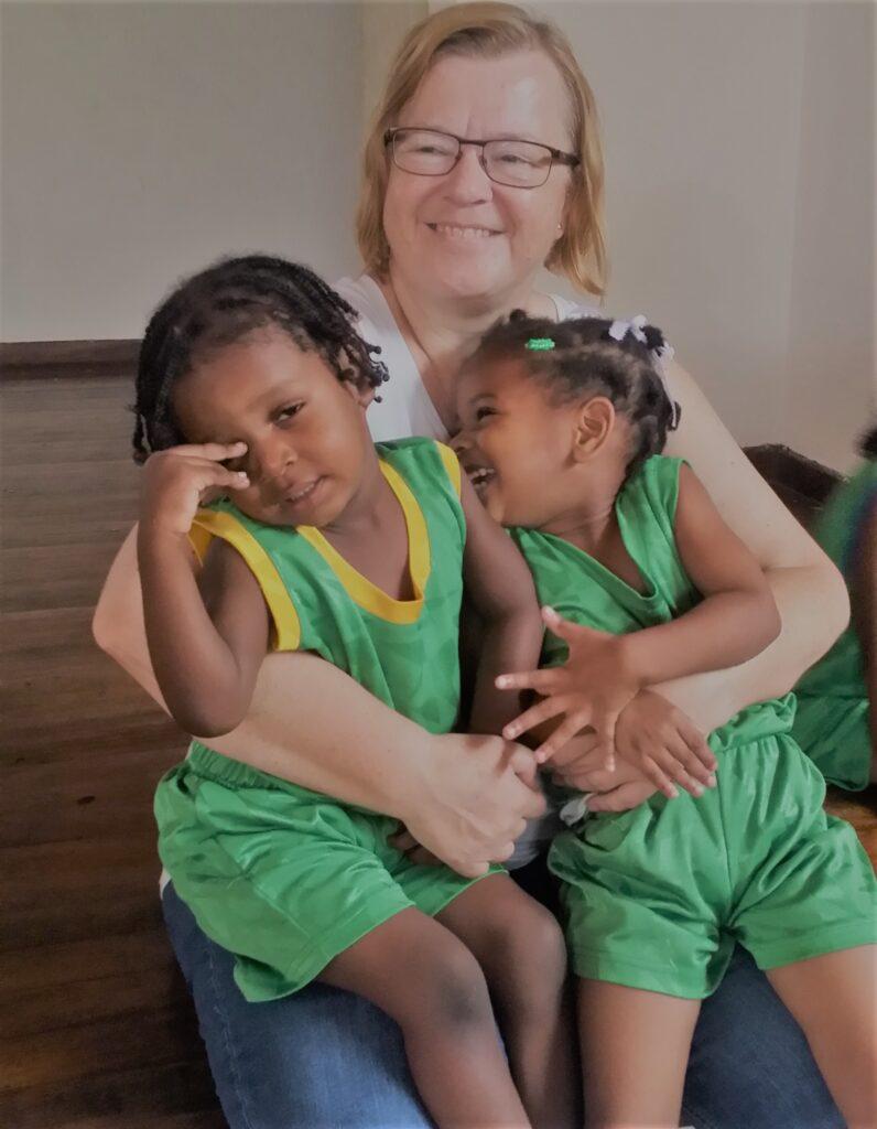 Volunteer work children Dominica